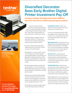 Brother Direct-to-Garment Printers | Success Stories