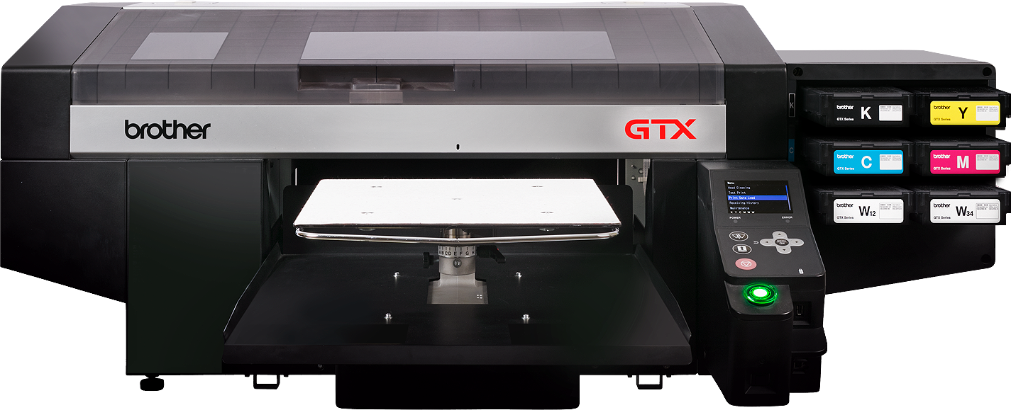 The new Brother GTX Direct to garment printer
