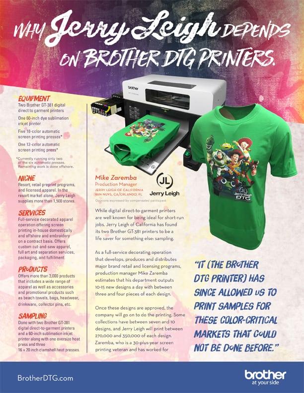 5bd50f64 GTX Direct to Garment Printer Testimonials | Brother DTG